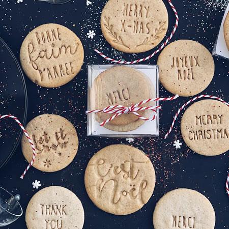 biscuits personnalisés c'est noël