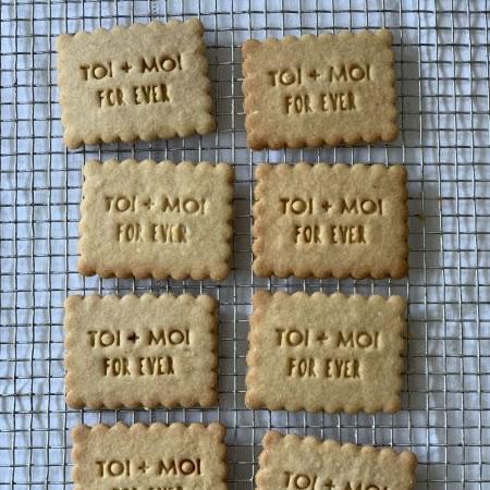 Biscuits personnalisés Bobiskuit Toi + Moi forever