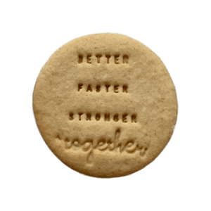 Biscuits personnalisés Bobiskuit better faster stronger together