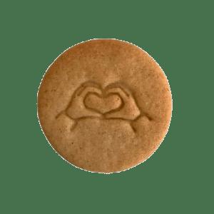 Biscuits personnalisés Bobiskuit Coeur avec les mains