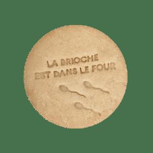 Biscuits personnalisés Bobiskuit La brioche est dans le four