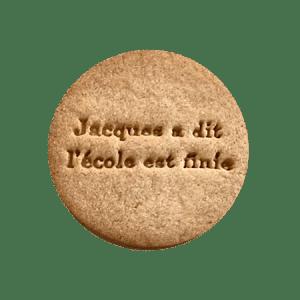 Biscuits personnalisés Bobiskuit Jacques à dit