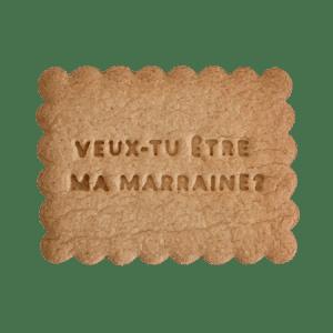 Biscuits personnalisés Bobiskuit Veux-tu être ma marraine ?