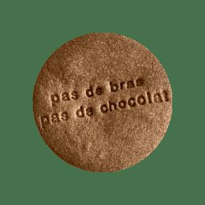 Biscuits personnalisés pâques Bobiskuit Pas de bras pas de chocolat